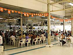 Food area at back of Aw Taw Kaw