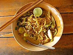 Noodles, mixed, ready to eat