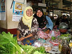Two vegetable vendors