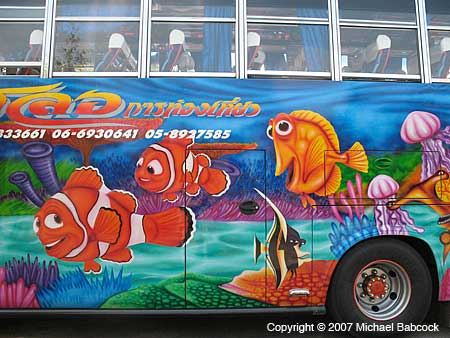 Painted Thai bus