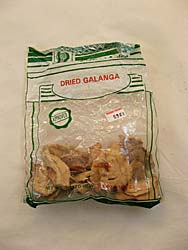 Dried Galanga Package