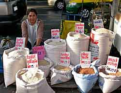 Street Vendor of Rice