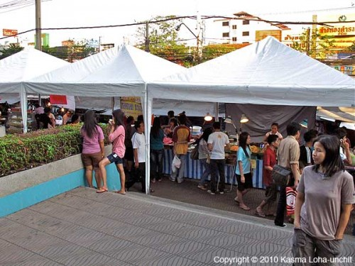 Outside Food Stalls