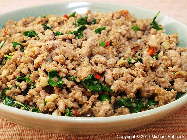 Cellophane Noodles With Pork And Thai Basil Recipes — Dishmaps