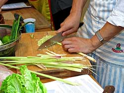 Cutting Lemongrass