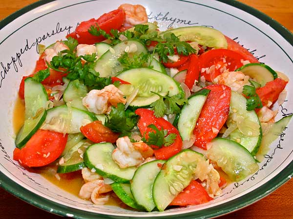 Hot and sour Cucumbers