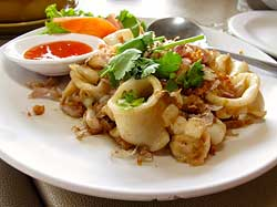 Garlic Pepper Squid