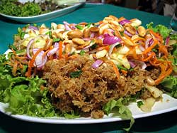 Crispy Catfish Salad