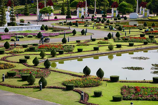 Manicured gardens