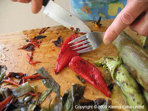 ... Over Mesquite Adds a Rich Smoked Flavor to Spicy Eggplant Salad